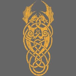 Keltische Drachen Gelb