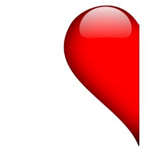 Herz linke Hälfte Vallentinstag Liebe Partner