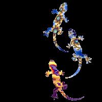 Drei Geckos Fraktal