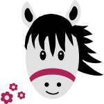 Cute Pony / Horse with small flowers
