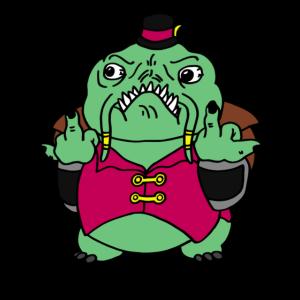 Verrückter Frosch Angepisste Gamer Kröte