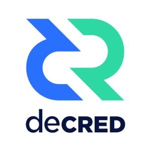 Decred logo vertical color dark