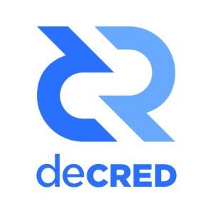 Decred logo vertical blue