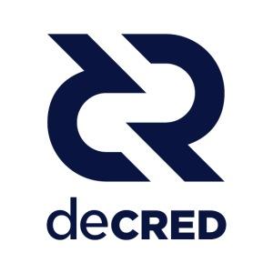 Decred logo vertical dark