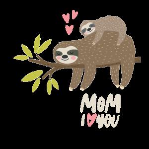 Faultier Mama Ich Liebe Dich Muttertag Geschenk