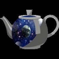 universe Universum Teekanne Kaffeekanne Kanne