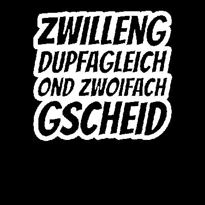 Schwäbischer Spruch Schwaben Mundart Geschenk - Tolles Spruch zum Geburtstag für Zwillinge! Schwoba! Schwäbisch schwätza wie in Stuttgart, Schwäbisch Hall, Schwäbisch Gmünd, Reutlingen, Freudenstadt, Ludwigsburg, Böblingen, Ulm, Esslingen, Calw - schwäbischer,schwäbisch,mundart,einheimisch,derb,Zwillinge,Wörterbuch,Urschwäbisch,Sprüche,Spruch,Sprache,Schwob,Schwaben,Schwabe,Schlau,Geschenkidee,Geschenk,Geburtstagsspruch,Geburtstagsgeschenk,Geburtstag,Geburtsstadt,Geburtsort,Dialekt,Baden Würrtemberg,Aussprache