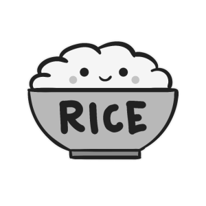 Have a Rice Day/ Love Asian Food/ Inspiring Quote