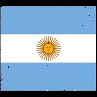 Argentinien Flagge Vintage-Effekt