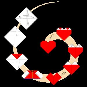 Faltendes Origamiherz - Wie man ein Herz faltet