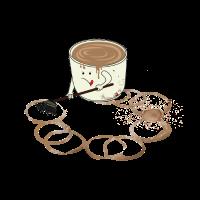 Kaffee Spur Tasse Büro-Humor Job