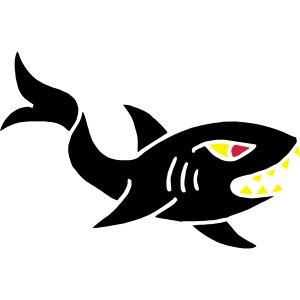 hai shark hungrig hungry fisch white weiß comic