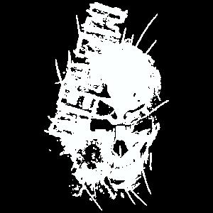 Death Skull weiß Mann Frau Kind