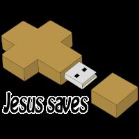 jesus saves usb