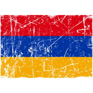 Armenien Flagge Vintage-Effekt