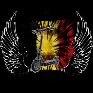 Escooter Electricscooter Wappen Belgien