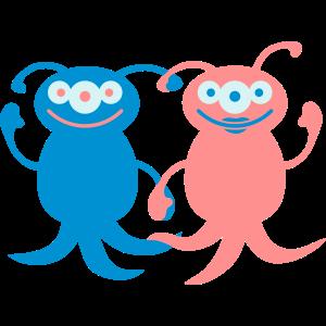 Cute Alien Love Couple