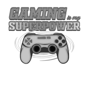 Gaming Superpower Controller Gamepad Cool Saying