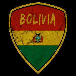 Bolivien Wappen Vintage / Geschenk Nationalflagge
