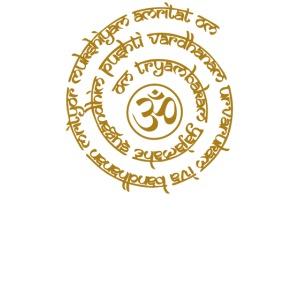 Yoga Mantra Motiv Tryambakam Heilmantra Gold