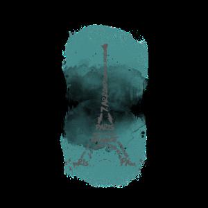 Eiffelturm Typografie | Aquarell türkis
