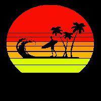 sunset Summer vibes beach surf sun palm sommer son
