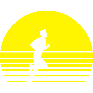 sunset running runner