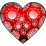 Herz in rot