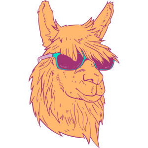 Cool Llama With Sunglasses Retro Vintage Style