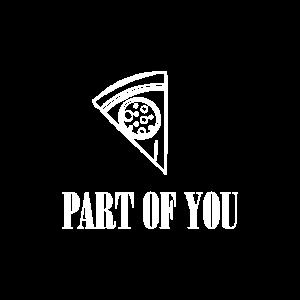 Pizza Partnerlook Liebespaar