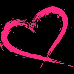 Herz Design Bürste pink rosa Neue Variante