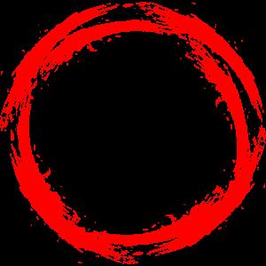 Kreis Design Bürste neue Variante rot Vektor