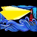 paesaggio marino con faro