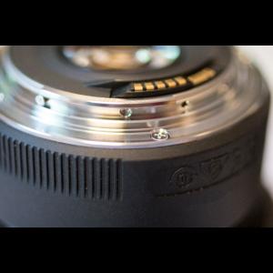 Objektiv einer Kamera für Fotos