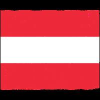 Österreich Flagge mit Vintage und abgenutzten Effekt