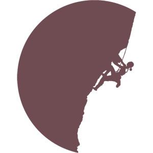 Klettrerin beim Klettern