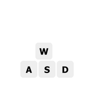 WASD moves me