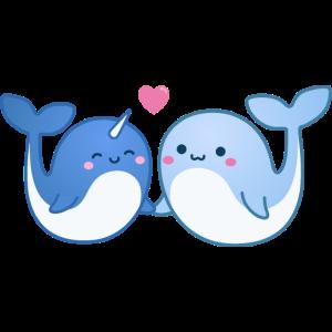Whalentine - Verliebte Wale am Valentinstag