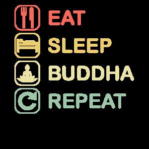 Buddha Yoga Meditation Retro | EAT SLEEP REPEAT