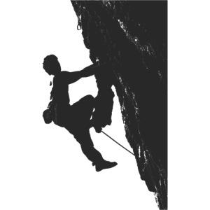 Kletterer auf einem Tufa