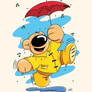 Der Bär tanzt im Regen