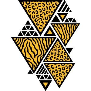 Dreiecks-Muster (Tiger / Leopard)