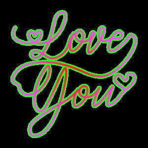 Love You Leuchtende Farben