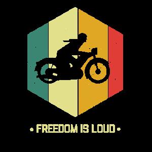 Motorrad - freedom is loud - Retro - Shirt