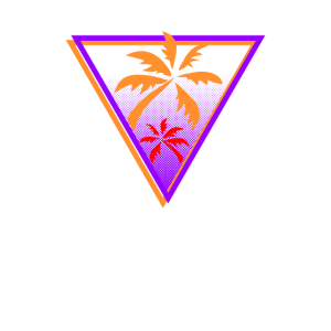 80er Jahre Synthwave Palm Geometric Gift
