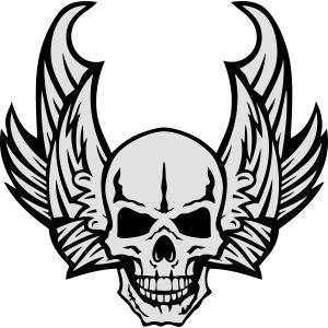 aile tete mort skull dead death wings