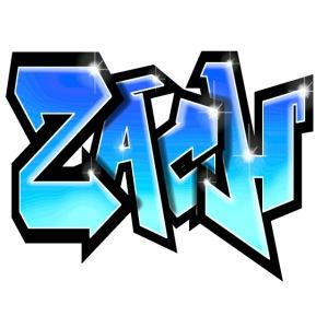 ZACH GRAFFITI TAG PRINTABLE BY MAX LE TAGUEUR