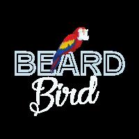 Vogel Papagei Bart SWAG Hipster Geschenk