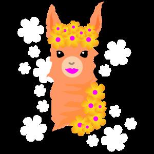 Lama Blumen Prinzessin