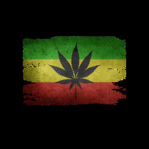 Raegae Flagge Hanfblatt